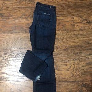 7 famk straight leg jeans